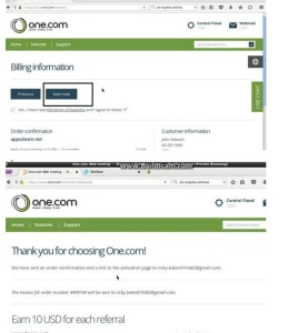Cara verifikasi one.com di bawah ini: