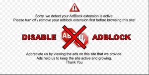 Iklan Adsense Tidak Tayang Karena Adblock