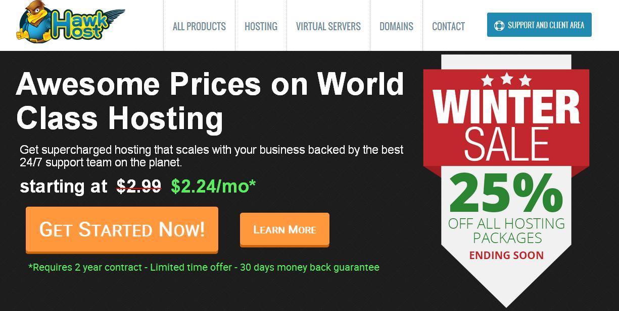 Review web hosting hawkhost