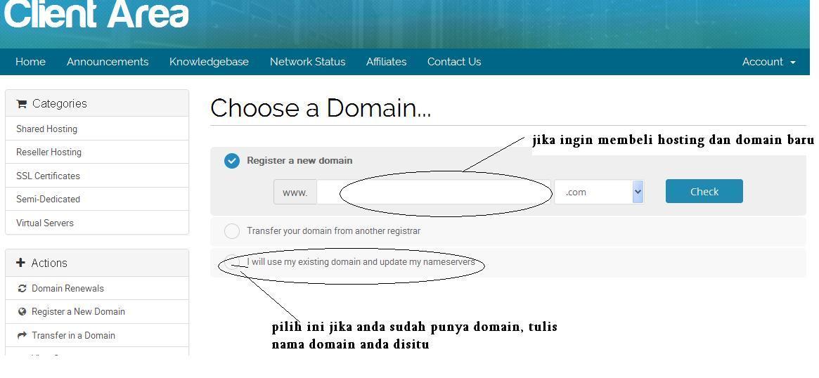 membeli hosting dan domain di hawkhost