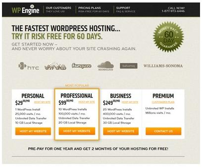 wp engine wordpress hosting rasa premium