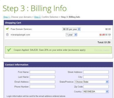 mantep banget domain .com cuma $1.59