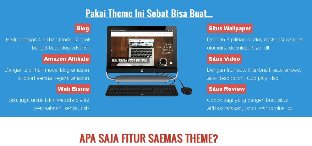 fiture theme saemas wp