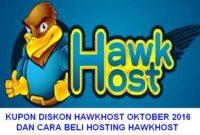 Menggunakan KUPON DISKON Hosting Hawk Host