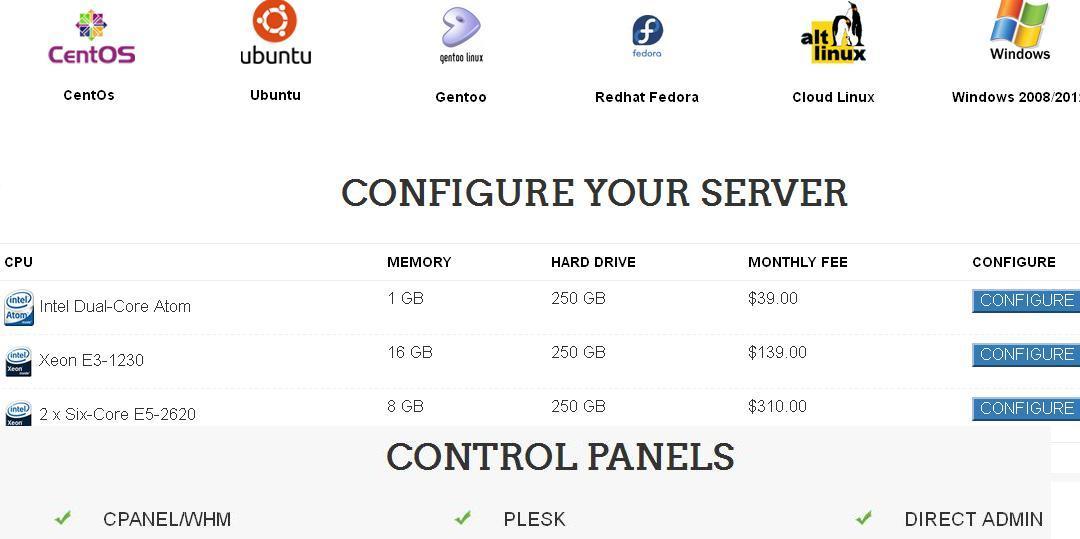 intererver dedicate hosting plan