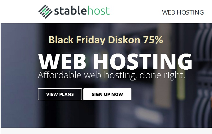 black friday Stablehost hosting discount 75%
