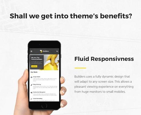 theme builders  Responsiv layout