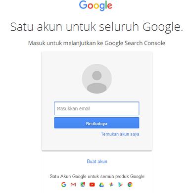 Cara Mendaftarkan Website ke Webmaster tools