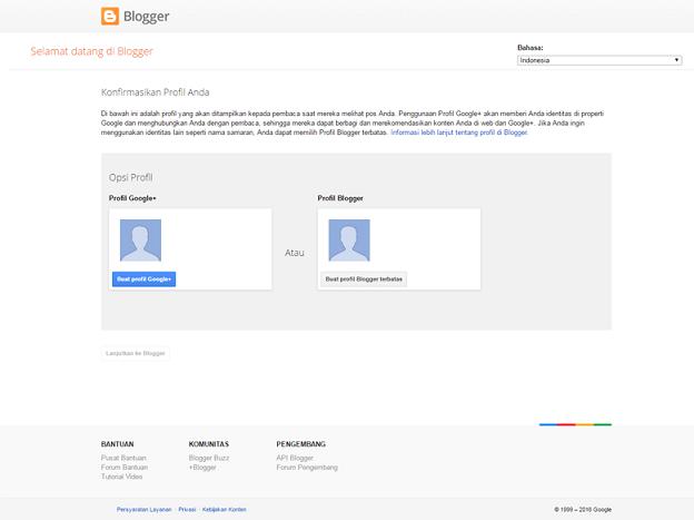 menyiapkan profil google plus