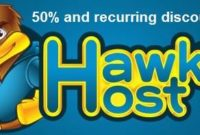 hawkhost promo code dicount 50% requrring 2016