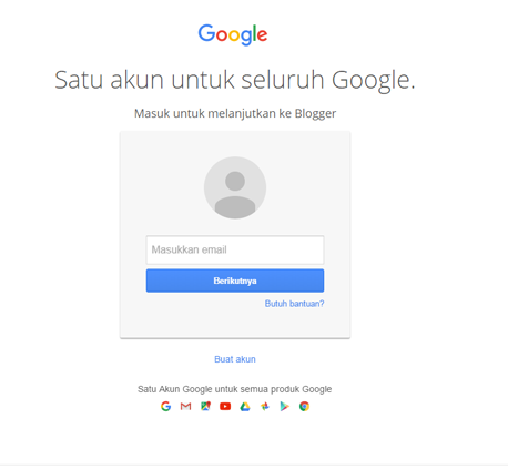 login ke blogger
