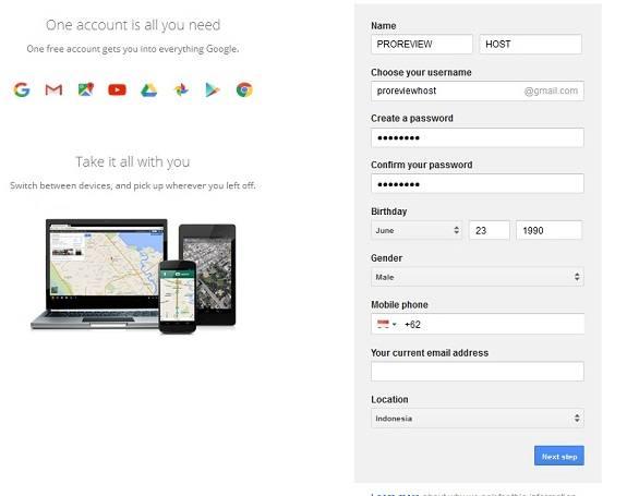 membuat akun google mail gratis
