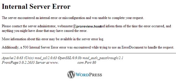 Mengatasi Internal Server Error