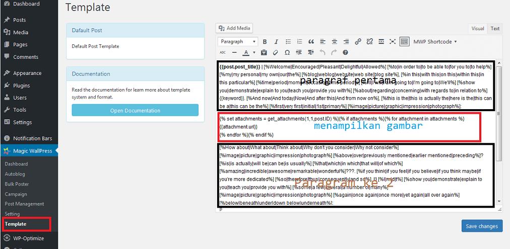 Default Post Template magic wallpress-min