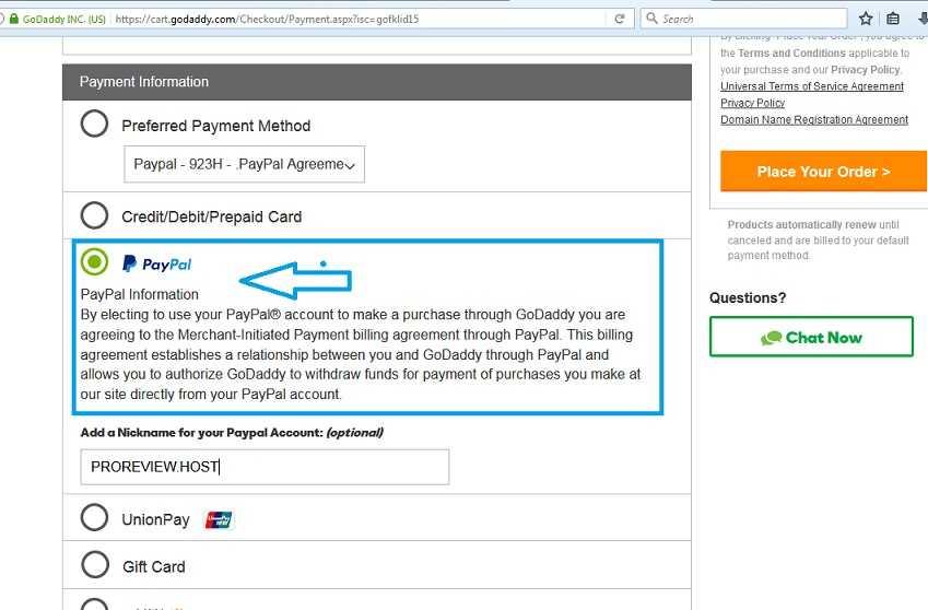 Cara Memperpanjang Domain Godaddy dengan Paypal