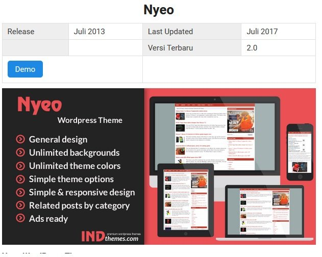 Nyeo wp theme v.2 2017 download