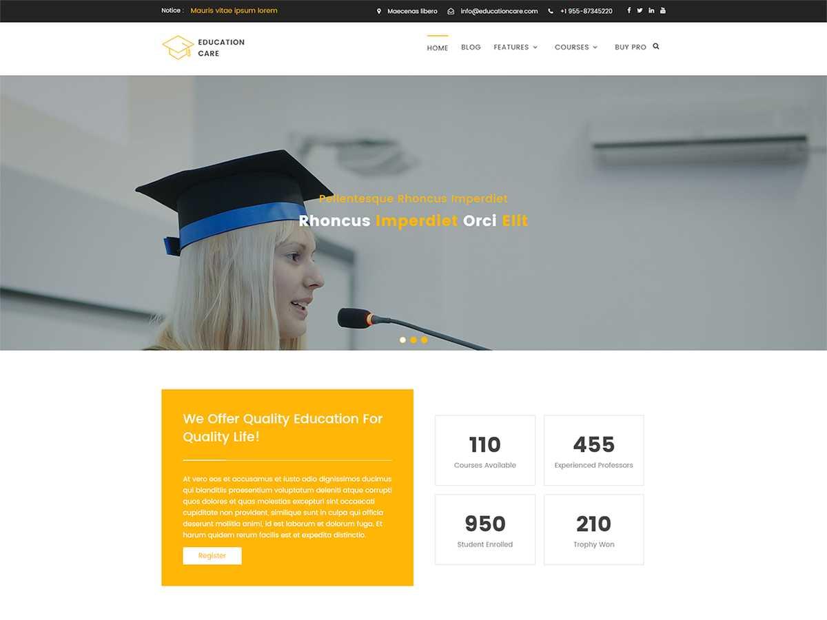 Education Care WordPress Theme Untuk Sekolah (Gratis)