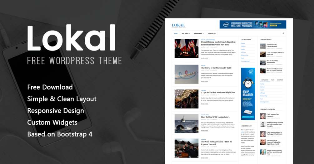 Free Lokal News WordPress Theme