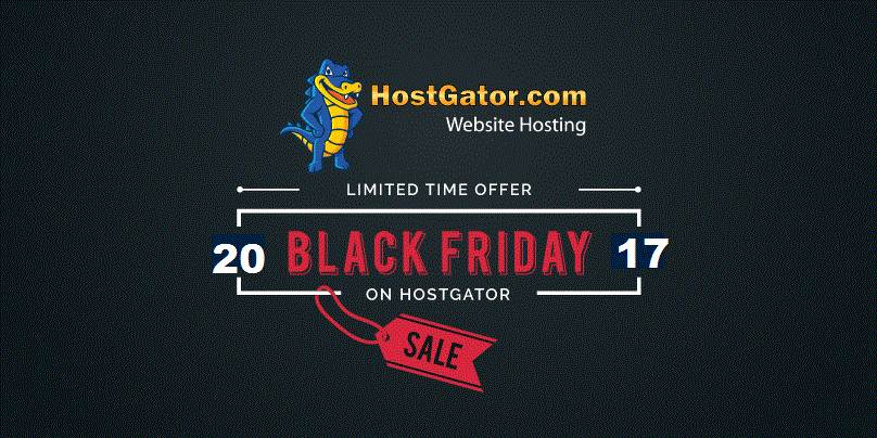 Hostgator Black Friday/Cyber Monday 23-28 November 2017
