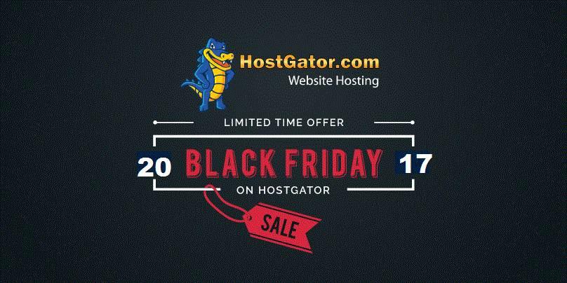 Hostgator Black Friday/Cyber Monday 23-28 November 2017