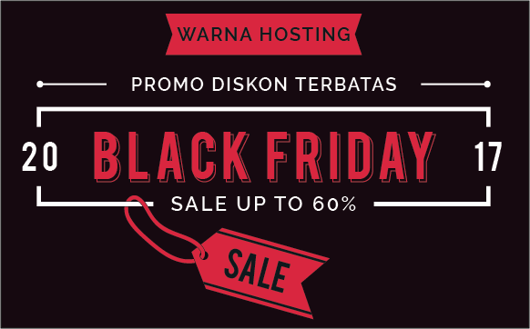 Warna Hosting Black Friday 2017 Diskon Up to 60% Lifetime
