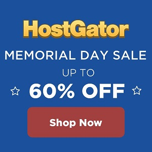 Hostgator Memorial Day Diskon 60% Off Hosting Plans