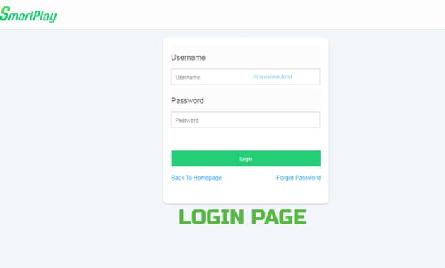 Smartplay Login Page