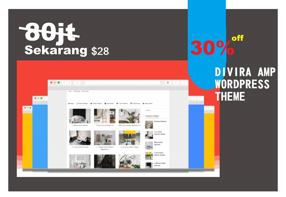 divira amp wordpress theme diskon 30%