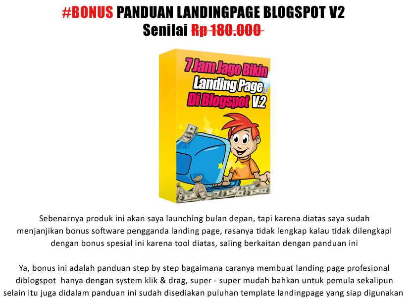 panduan membuat landing page di blogspot