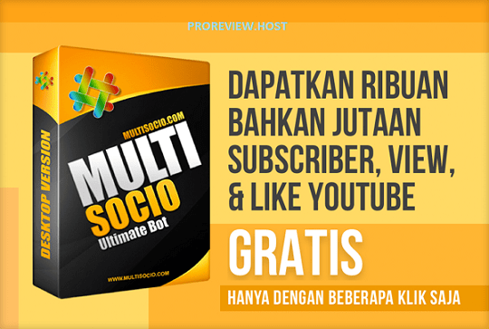 MultiSocio Bot Ribuan Subscriber View & Like Youtube