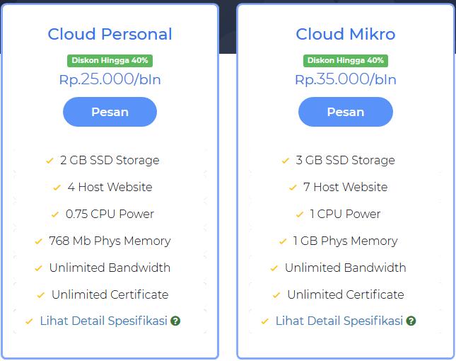 pesan warnahost cloud hosting indonesia