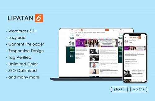 Lipatan 6 WordPress themes news
